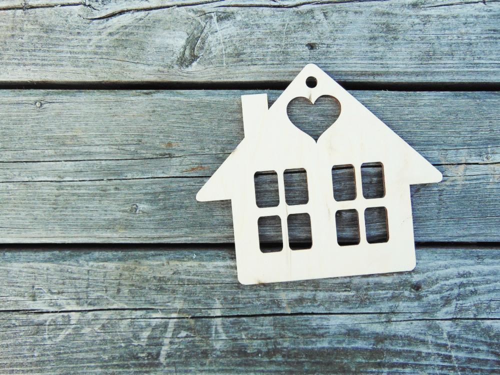 Huis met hartje in het dak